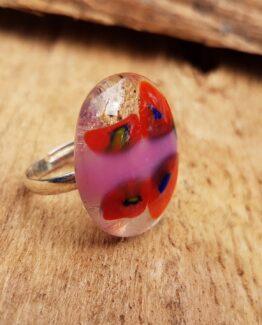 glas-sieraden-ring-rood-roze