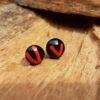 glas sieraden oor-bel stekers donkerblauw zwart rood
