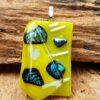 glas sieraard hanger lente-geel