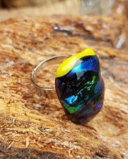 glas-sieraden-ring-metallic 1