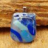 Glas sieraard hanger grijs-blauw