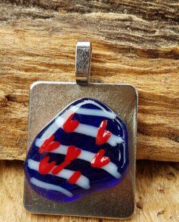 Glas sieraden Friesland hanger