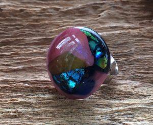 glas-sieraden-ring-roze