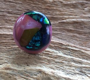 glas sieraden-verstelbare-ring roze