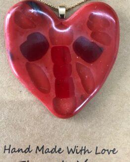 glas sieraden hanger hart