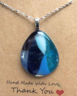 glas sieraden hangers blauwen