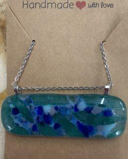 glas sieraden blauw groen
