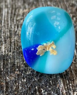 glas sieraden ring lichtblauw