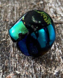 glas sieraden ring metallic4