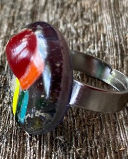 glas sieraden ring tulp