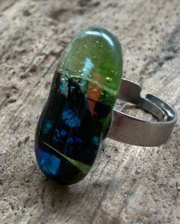 glas sieraden groen en metallic