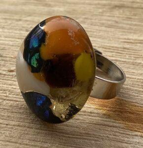 glas ring 6 kleur