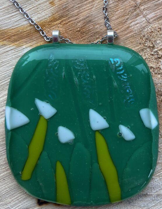 glas hanger groen wit